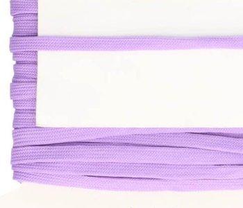 lila veterband oftewel plat koord 9 mm breed, dubbeldik