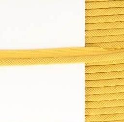 paspelband okergeel met gedraaid koord 4mm dik