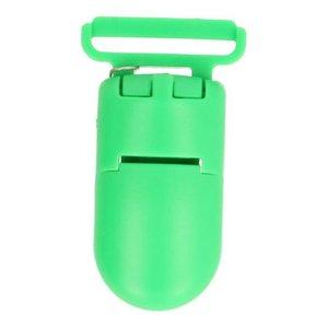 bretelclip, kunststof speenkoordclip groen