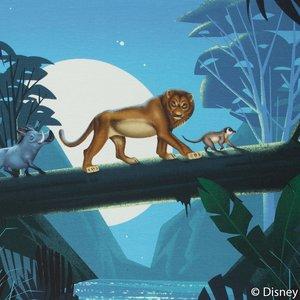 Lion King panel  60 bij 50 cm. In het oerwoud!