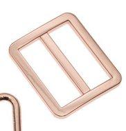 schuifgesp rosé-goud-kleurig metaal 25 mm