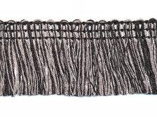 Franjeband zwart-grijs 32 mm