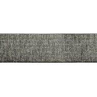 taille-elastiek 4 cm breed: zilver met zwart /HALVE METER