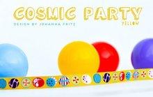 Cosmic-Party-yellow-sierbandje