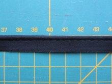 paspelband zwart katoen/polyester