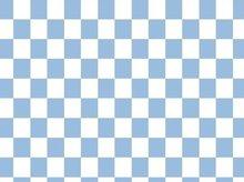Vicente: schaakbord, blokjes tricot in lichtblauw/wit
