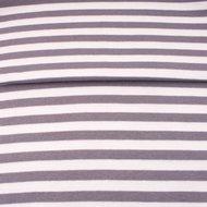 boordstof brede streep 0,8 cm grijs-wit