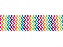 taille-elastiek 2,5 cm breed: zigzagje /HALVE METER
