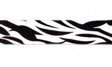 taille-elastiek 2,5 cm breed: zebraprint /HALVE METER