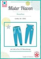Mister Haven / patroon van een smalle joggiingbroek in de maten XS, S, M, L, XL, XXL, XXXL