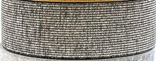 taille-elastiek 3 cm breed: zilver met zwart / HALVE METER