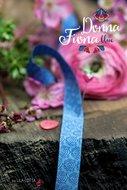 Donna Fiona: sierbandje blauw/lichter blauw
