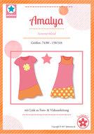 Amalya, sweater en sweatjurk in de maten 74/80 - 158/164
