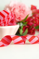 streepjesband rood/fuchsia