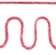 Koord 5 mm gevlochten katoenen koord, gemêleerd rood