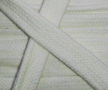 plat koord 17 mm breed gevlochten katoenen koord, offwhite