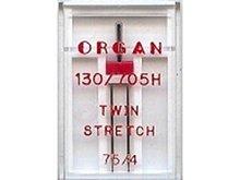 Organ stretch-tweelingnaald 75/4