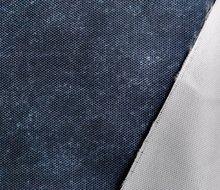 Helsinki: waterdichte stof met jeanslook: donkerblauw jeans mêlee