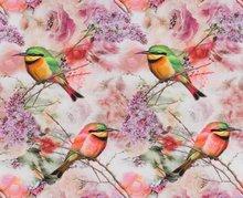 Tim: digitaal bedrukte tricot: vogels in een sering