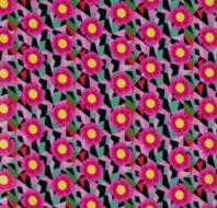 coupon 95 cm: cactus blossom zwart-rood-groen tricot naar een ontwerp van Jolijou