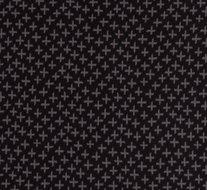 Karla: zwarte boordstof met grijze plusjes