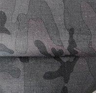 Helsinki: waterdichte stof met legerprint in grijstinten