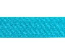 glitter-taille-elastiek turquoise 2,5 cm breed:  / HALVE METER