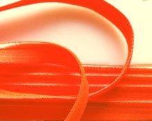 elastisch paspelband, neon-oranje
