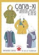 Carla XL patroon van een jas of jack in de maten 48 t/m 60