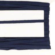 donkerblauw veterband oftewel plat koord 9 mm breed, dubbeldik