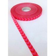 Chevron-sierband-rood-roze
