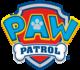 Paw Patrol, tricot met de bekende hondjes op verlopende strepen_
